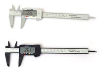 150 мм 6-дюймовый ЖК-цифровой электронный углеродного волокна Штангенциркуль Штангенциркуль Микрометр Пластиковый суппорт