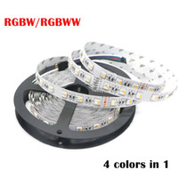 RGBW LED Strip 5050 SMD DC12V 24V Luce flessibile 4 colori in 1 LED Chip 60 LED / m Non impermeabile 5m / lotto