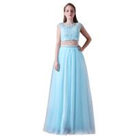 2 조각 대상 Boho 웨딩 드레스 해변 웨딩 드레스 긴 레이스 웨딩 가운 층 길이 섹시한 다시 CMW0018