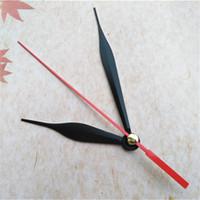 الجملة 50pcs سهام ساعة معدنية سوداء مع اليد الثانية الحمراء ل DIY ساعتك إصلاح