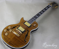 Custom guitar store, OEM Left handed semi- hollow body electri...