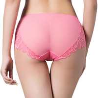 Bud silk popular Women's Panties Lace Gauze Ventilation Underpants Hollow Out Sexy intimates Taste Enlarge Coon Briefs