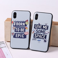 Creative English Words TPU PC Painted Phone Case Shell Relie...
