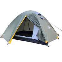 c05599a1be30b8 Outdoor Camping Zelt 2 Personen Ultraleicht Camping Zelt 4 Jahreszeiten für  Strandangeln mit wasserdichtem Index 3000mm