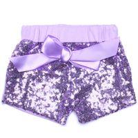 Été Bébé Filles Paillettes Shorts Pantalon Pantalon Décontracté De Mode Infant Glitter Bling Danse Boutique Bow Princesse Shorts Enfants Vêtements 12 couleur