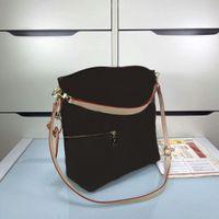 Alta Qualidade Famoso Marca Mulheres Genuíno Bolsas De Couro Bolsa M41544 Melie Ombro Bag CX # 215 Tenha correias