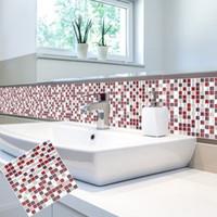 Selbstklebende Mosaik Fliesen Wandtattoo Aufkleber DIY Küche Badezimmer  China Wandaufkleber Lieferanten, Peel Und Stick Fliese