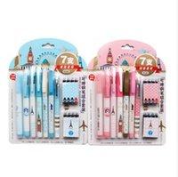 Caneta Tinteiro 8pcs Ink 7pcs Kalemler Silinebilir / Dolma Kalem İnce Orta Ef + F M Nib Yazma Akıcılık 2Standard Ücretsiz Kargo