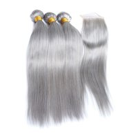 Fairgreat Pre- Colored Human Hair Bundles With Closure Bazili...