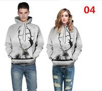 Wholesale Purple Thin Couple Hoodies Online 3d Hoodies Men Women Couples Kanye Hooded Sweatshirts Melted