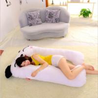 Nuevo Soporte dormir almohada para mujeres embarazadas Cuerpo de algodón almohada en forma de U Almohada de maternidad Embarazo lateral Traviesas de cama