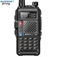 Nuovo BAOFENG BF-UVB3 PLUS 5W High Power UHF / VHF Dual Band 10KM Long Range Thickenbattery Walkie Talkie Modalità di ricarica multipla