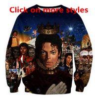 Nueva Moda Parejas Hombres Mujeres Rey Unisex Del Pop Michael Jackson 3D Imprimir Sudaderas con Capucha Suéter Chaqueta Superior A12