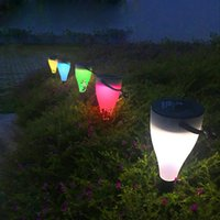 Lawn Lamp LED 7 Color Change Outdoor Solar Lawn Light for Ga...