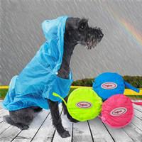 Hund Windjacke Ultradünne Hund Regenmantel Sonnenschutz Hund Kleidung Nylon Wasserdichte Pet Regenmantel 3 Farben T2I269