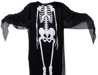Costumi di Halloween Cappe Adulti Bambini Party Club Fantasma Cosplay Struttura del corpo umano Costumi di stampa Uomo Donna Bambini Capes Cosplay
