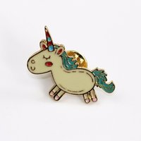 Cute Animals Unicorn Enamel Pin Love Hand Beer WTF Rose Broo...