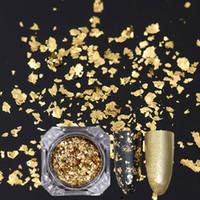 Gold Sier Nail Glitter Sequins Irregular Nail Flakies Paillette  Manicure Flakes Decoration