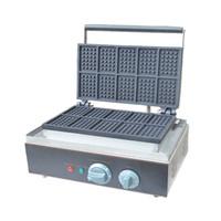 Qihang_top aperatif ekipmanları tek ısıtma plakası kare şekli elektrikli waffle fırıncı makinesi Ticari belçika waffle makinesi maki ...