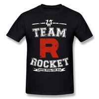 Новое прибытие Мужская 100% хлопок Team Rocket Футболка Мужская футболка с коротким рукавом с круглым вырезом 6XL Подарочная футболка