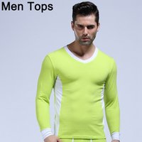 WJ Cotton Mens Thermal Tops Thermo Underwear Sexy Long Sleev...