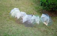 2019-quente New Arrival Transparente Limpar EVC Umbrella punho longo chuva sombrinha Ver Através guarda-chuva colorido Rainproof foto do casamento