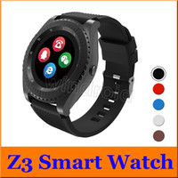 Z3 Smart Watch Bluetooth Sport indossabili Mini supporto per fotocamera GSM Scheda SIM sbloccato Touch Screen per Android iPhone Smart Phone Orologio da polso