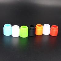Punta de goteo desechable de silicona de diámetro amplio 810 Tapa de goma colorida Tapas de prueba de caucho con paquete individual para TFV12 / Kennedy / Goon / 528 RDA
