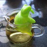 Kaplumbağa Çay Demlik Gıda Sınıfı Silikon Yeşil Sevimli Kaplumbağa Çay Süzgeci Yaratıcı Kullanımlık Çay Poşeti