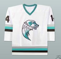 2ad3ce41866 New Arrival. The Lansing ice wolves Derek Thompson 14 minor league hockey  jersey Richard goudreau Les boys Hockey Jerseys Custom Any Name Number