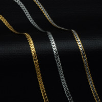 5mm Gold Color Stainless Steel Curb Cuban Link Chain Necklac...