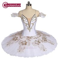 Adulto blanco Professiona Ballet Tutu Cisne negro Perfomance Stage Wear Mujeres Ballet Dance Competition Disfraces Chicas Falda de ballet Apperal