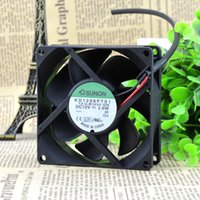 For original SUNON 8 cm 8025 12V 1.9W KD1208PTS1 chassis power supply cooling fan 2 line