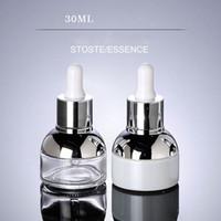 30ML شفافة الزجاجات الفارغة القطارة الزيوت الأساسية زجاجة عطر التعبئة والتغليف المرأة حاوية مستحضرات التجميل الصغيرة