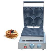 Qihang_top aperatif makineleri yuvarlak şekil waffle makinesi 110 v / 220 v satılık ticari elektrikli yuvarlak waffle makinesi