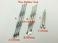 드라이 허브 기화기 펜 유리 글로브 분무기를위한 왁스 dabber 도구 121mm 105mm 61mm 스테인레스 스틸 왁스 도구