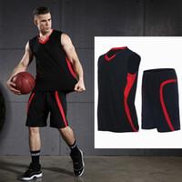 Vansydical Spor Spor Spor Eğitimi Kolsuz Yelek Şort Spor Salonu Giyim Running Erkekler Basketbol Setleri Takımları
