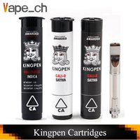 Kingpen Vape Cartridges 0. 5ml 1. 0ml Cotton Ceramic Coil Glas...