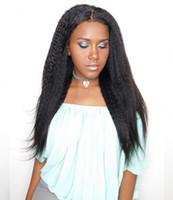 Rendas dianteiras de cabelo humano perucas branqueadas de nós virgem cabelo virgem kinky rendas rendas perucas afro-americanos