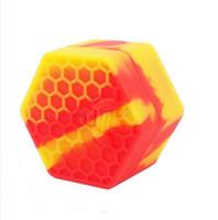 무료 DHL, 꿀벌 왁스 실리콘 항아리 오일 왁스 컨테이너에 대한 실리콘 항아리 컨테이너 매끄러운 실리콘 contianer
