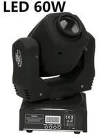 10 adet / grup LED 60 W Mini LED Spot Hareketli Kafa Işık Mini Hareketli Kafa Işık 60 W DMX DJ 8 Gobos Etkisi Sahne Işıkları