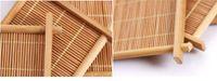 esteira do copo de bambu Handmade Kung Fu Acessórios mesa de chá tapetes acessórios copos de café placemats russa bebidas cozinha caneca almofadas LLFA