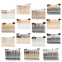 Shell makeup brush set 20Pcs Foundation Powder Cosmetics Bru...