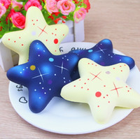 Cute Starry Sky Starfish Squishy Slow Rising Jumbo Pendant S...