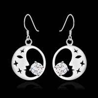 E267 Fine 925 Sterling Silver CZ Solid Earring for Women XMA...