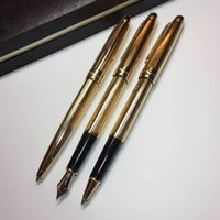 luxury 163 pen meisterstucks series golden metal mb fountain...
