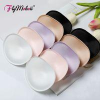 Sujetador Flymokoii 1 par / lote para mujer Copas de pecho acolchadas Inserción Breast Enhancer Push Up Bikini Almohadillas de espuma de esponja invisible para traje de baño