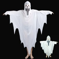 New white Cloak Kids Halloween ghost costumes cosplay Childr...