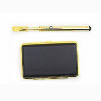 стеклянный патрон керамическая катушка vape pen e сигареты стартовые комплекты золото 92A3 одноразовые толстый масляный бак с зарядным устройством 280mah бутон сенсорная кнопка батареи
