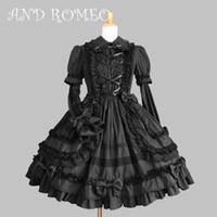 Traje de tema vestido clásico delgado princesa dulce vestido lolita con volantes extraíbles algodón jsk para niña personalizada